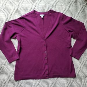 Charter Club Violet Button Up Cardigan